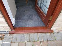 Door tread draught seal missing